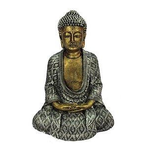Buda Tailandês Prata Grande