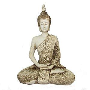 Buda Hindu Tailandês Branco - Deusa da Fortuna