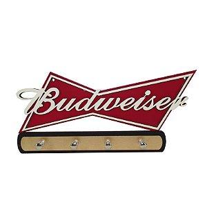 Porta Chave cerveja Budweiser Madeira