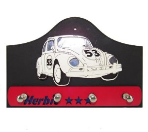 Porta Chave Fusca Herbie 53 em Madeira