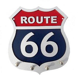 Porta Chave Route 66 em Madeira