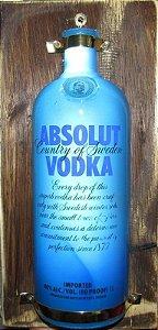 Luminoso Absolut Vodka Com Led Madeira.