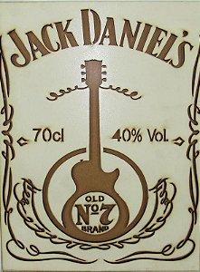 Placa Jack Daniel's Em Alto Relevo.
