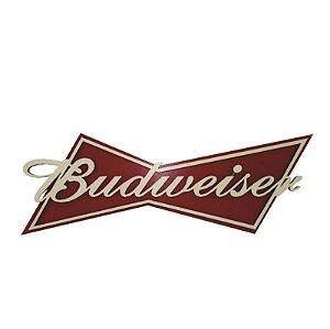 Placa Budweiser Em Alto Relevo