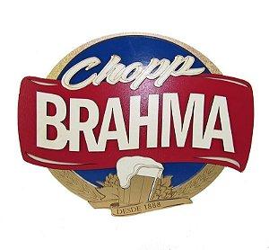 Placa Chopp Brahma com detalhes em Alto Relevo