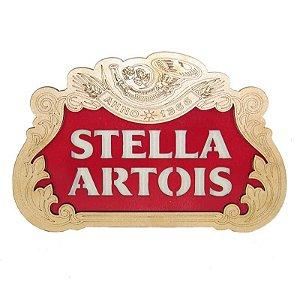 Placa Stella Artois com detalhes Em Alto Relevo