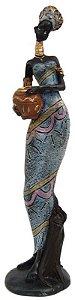Africana Grande Com Vaso Na Mão - Estatueta , Escultura