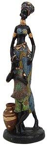 Africana Com Filho - Estatueta , Esculturaa