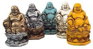 Buda Flor De Lótus - Estatueta Em Resina