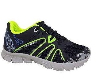 Tênis Infantil Ortopé New Jogging 2137016 - Preto/Fresh