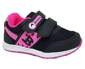 Tênis Infantil Botinho 780JA - Preto/Pink