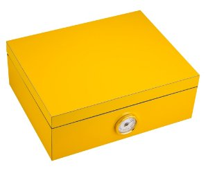 Caixa amarela para 25 a 40 charutos - s/ vidro