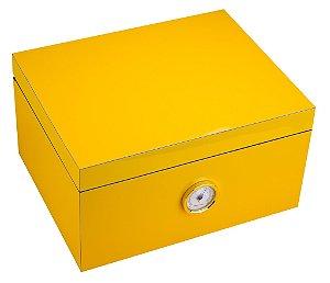 Caixa amarela para 50 a 75 charutos - s/ vidro