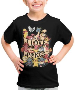 Camiseta I Love Pokes