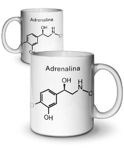Caneca Formula Química Adrenalina