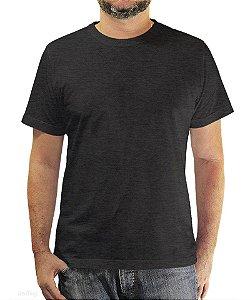 Camiseta Básica Cinza Mescla Chumbo