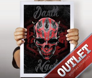 OUTLET - Poster - Darth Skull