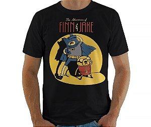 Camiseta Finn e Jake - Masculina