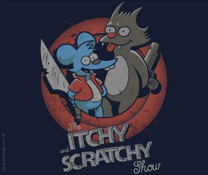 Camiseta Itchy and Scratchy - Feminina
