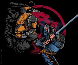 Camiseta Mortal Samurais - Masculina