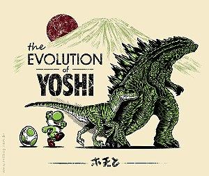 Camiseta The Evolution Of Yoshi - Masculina