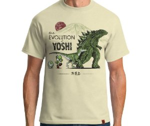 Camiseta The Evolution Of Yoshi - Masculina