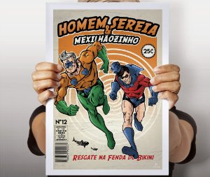 Poster Homem Sereia