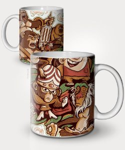 Caneca I Love Monkeys