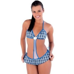 Mini Fantasia Feminina Colegial Body Amaretto