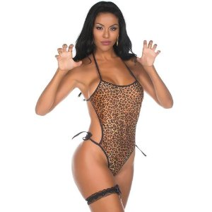 Kit Mini Fantasia Body Animal Print Pimenta Sexy