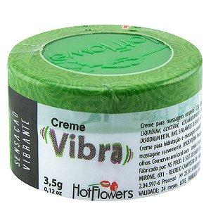Vibra Creme 3,5gr Eletrizante Unissex Hot Flowers