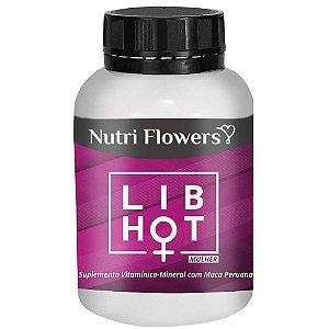Lib Hot Mulher Estimulador 60 Cápsulas Hot Flowers