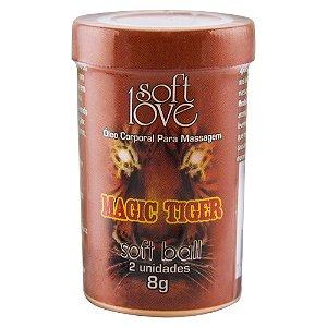 Soft Ball Bolinha Magic Tiger 8g 02 Unidades Soft Love