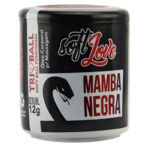 Soft Ball Triball Mamba Negra 03 Unidades Soft Love