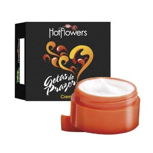 Gotas do Prazer Creme Pote 4gr Hot Flowers