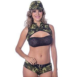 Kit Fantasia Militar A Amareto