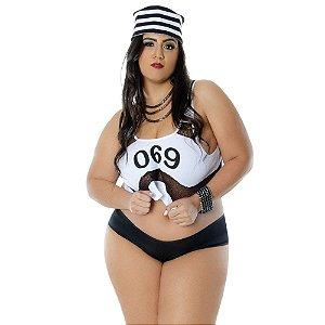Fantasia Presidiária Lorena Plus Size Sapeka