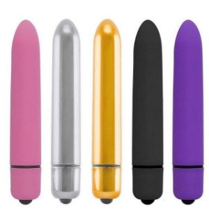 Power Bullet Mini Vibe Collors  10 Vibrações  Cia Import