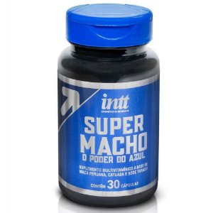 Super Macho O Poder Do Azul 30 Cápsulas Intt