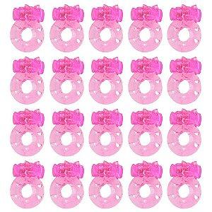 Pack 20 Unidades Anéis Peniano Bichinho Rosa