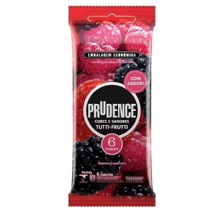 Preservativo Tutti Frutti Com 6 Unidades Prudence