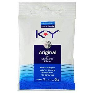 K-Y Original Lubrificante Íntimo 03 Sachês 5g Cada Ky