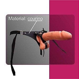 Strap On - Cinta com Pênis com Regulagem para Escroto (saco)
