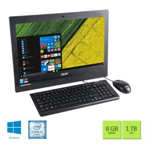 All in One Acer 19,5'' Core i5 5200U / 8GB / 1TB / W10 / Preto