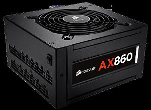 Fonte 860W Corsair AX Series Modular 80+ Platinum
