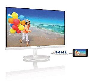 "Monitor LCD (LED) 23"" IPS Philips Branco - 234E5QHAW"