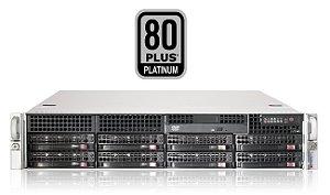"Chassi Server Supermicro 2U c/ Fonte 740W 80+ Platinum (Redundante) / 8 x 3.5"" Hot Swap"