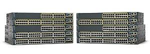 Switch 48p POE (10/100Mbps) + 2p Gigabit + 2p Gigabit mini-GBIC/SFP - Gerenciável - Cisco Catalyst 2960