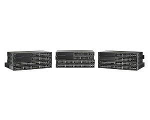 Switch 48p (10/100Mbps) + 2p Gigabit SFP + 2p 5Gbe SFP - Gerenciável - Cisco SF500-48-K9-NA