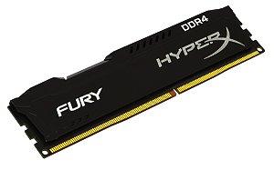 Memória 4GB DDR4 2133MHz Kingston HyperX Fury - Preta
